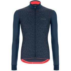 Santini Colore Puro Maglia jersey a maniche lunghe Uomo, blu